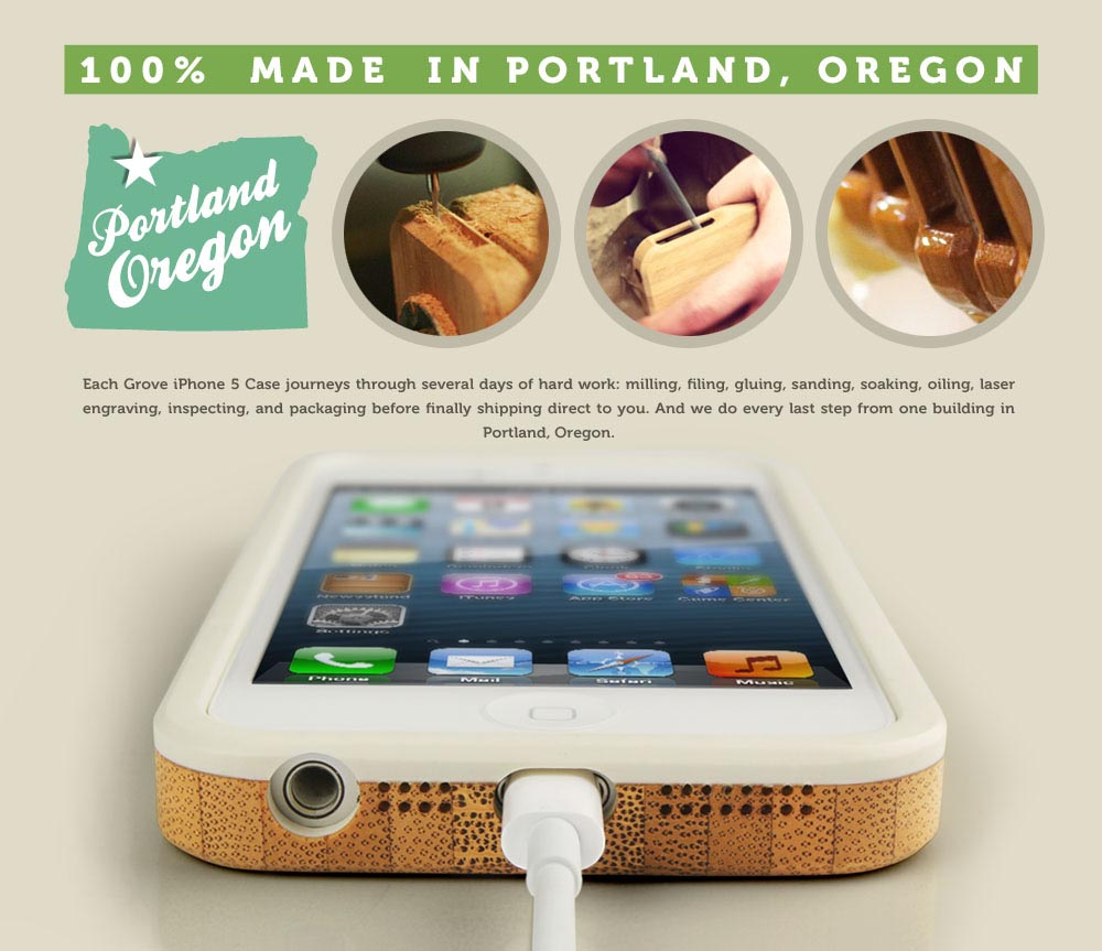 Grove Bamboo Sase for iPhone 5