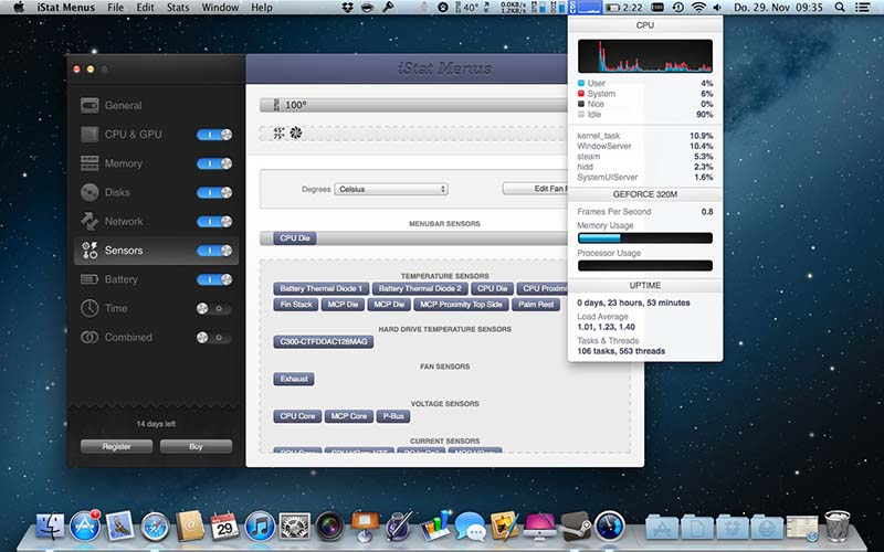 iStat Menus for Mac - Free download and software reviews - CNET pboxfr.me
