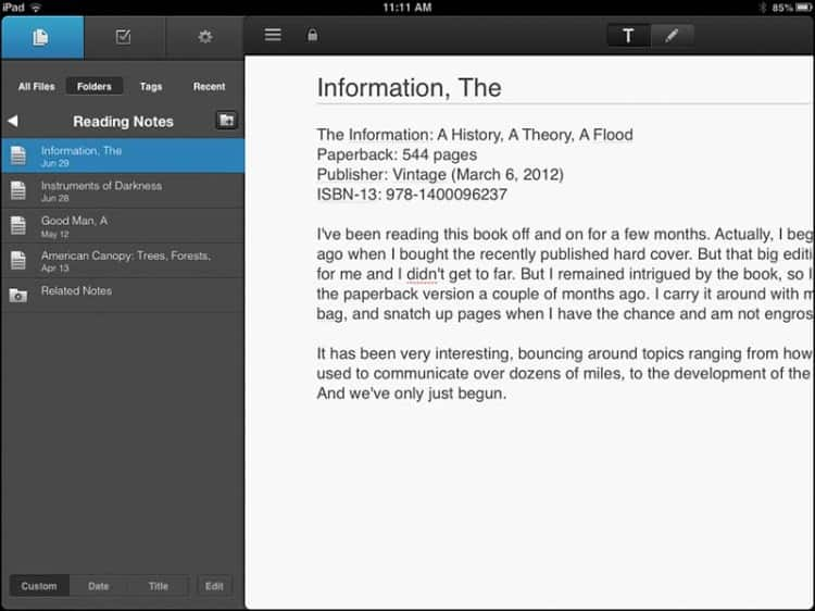 NoteSuite for iOS 1