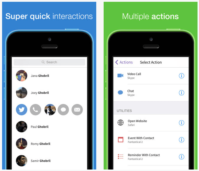 Mingle: Action Based Contacts